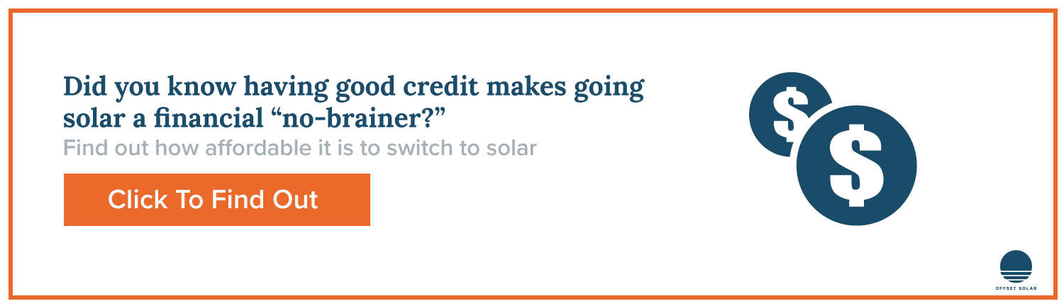If you have good credit then it makes sense to go solar