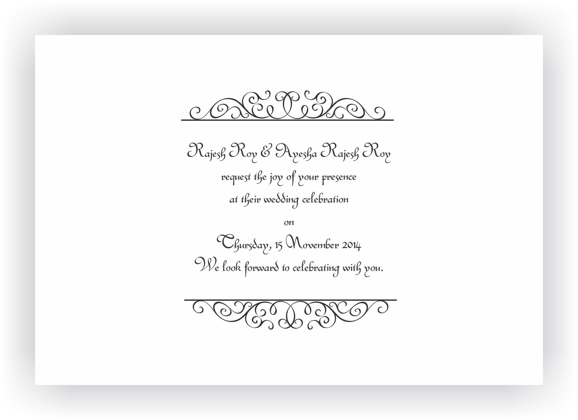 Wedding Invitation wording messages – CHOCOCRAFT