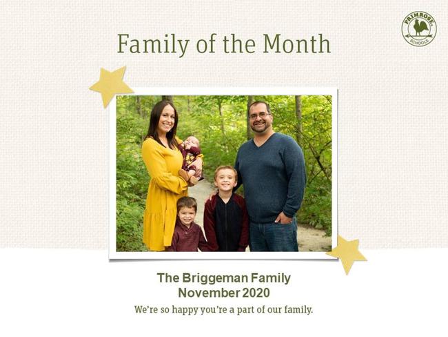 november 2020 family of the month briggeman