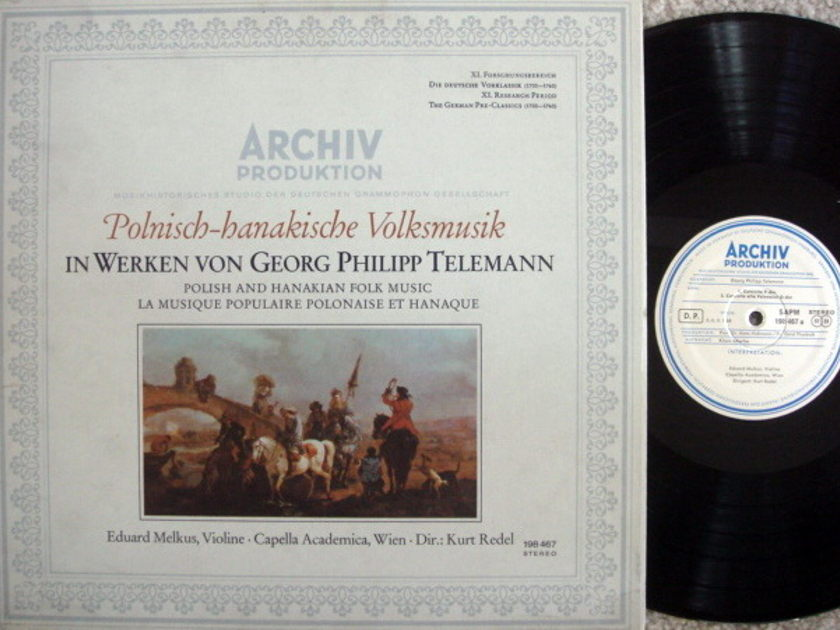 ★1st Press★ Archiv / MELKUS, - Telemann Polish & Hanakian Folk Music,  NM!