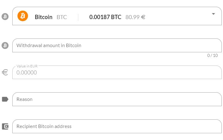 Withdraw cryptos to an external exchange platform using Quidli