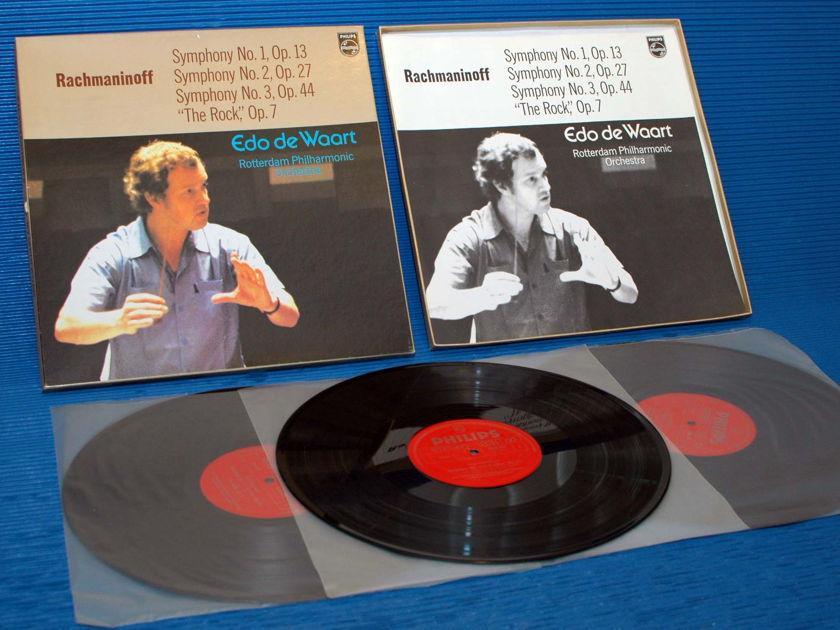 "RACHMANINOFF / deWoort   - ""Symphony 1-3"" -  Philips Import 1973"