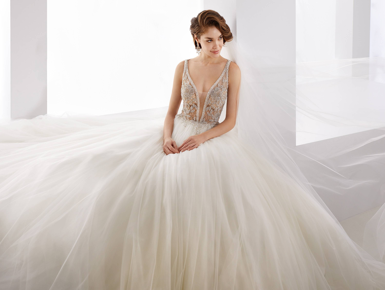 JOAB19529 NICOLE MILANO WEDDING DRESS
