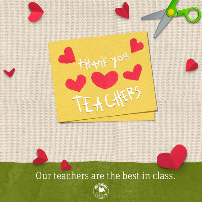 Thank you teachers poster for teacher appreciation week