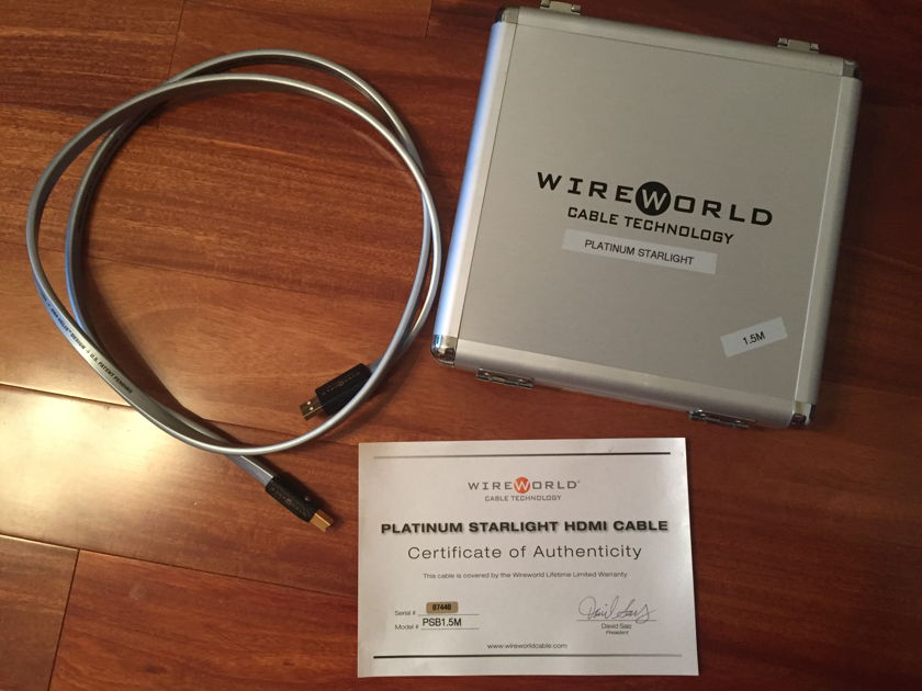 Wireworld Platinum Statement  USB 1.5m Excellent Condition
