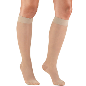 Ladies' Knee High Closed Toe Sheer Stocking in Nude