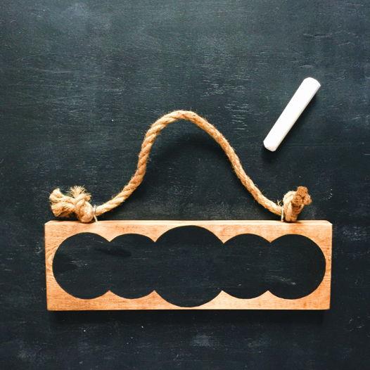 Грифельная декоративная табличка