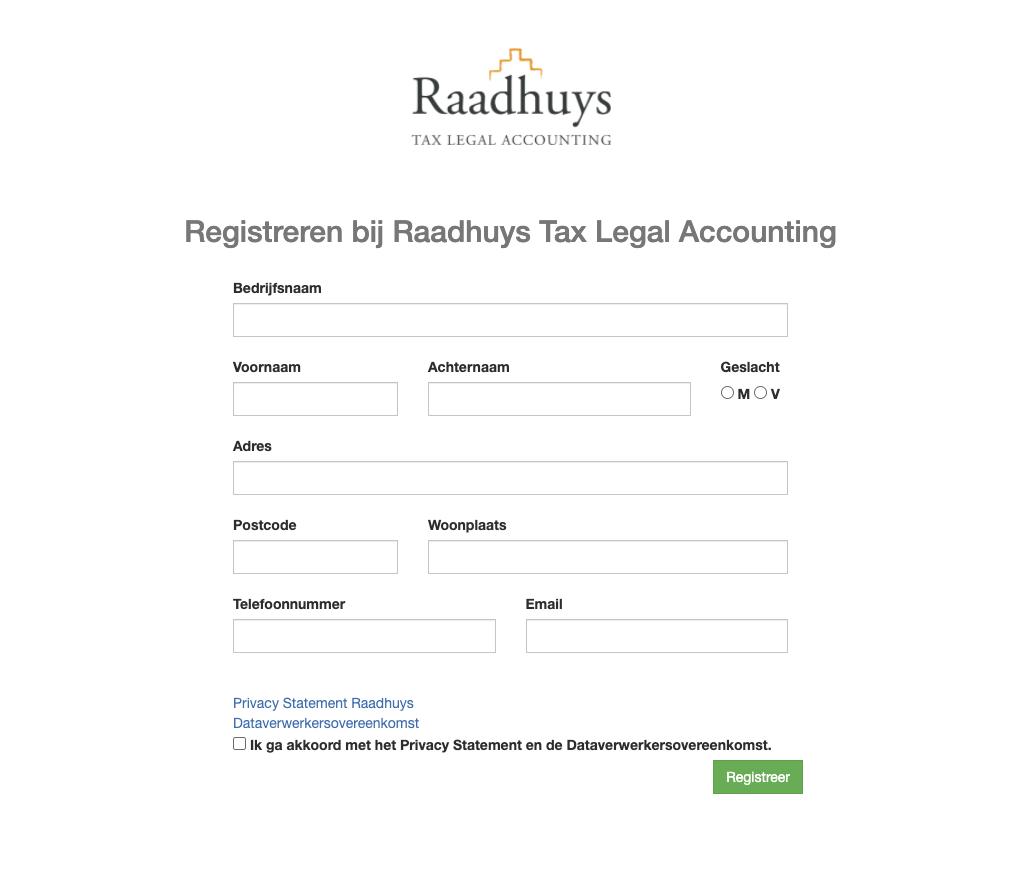 Raadhuys registeren