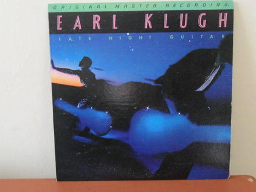 Mobile Fidelity 1/2 - SPEEd: earl klugh late night guitar; mint -
