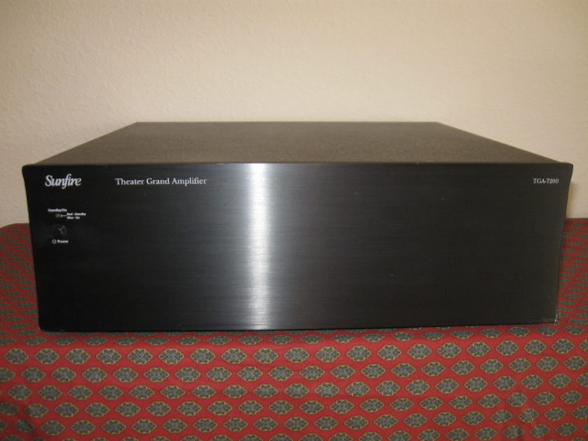 SUNFIRE TGA-7200 Theater Grand Amplifier Balanced 7-channel (7x200 wpc 8 ohms) ~  (7x400 wpc 4 ohms) Works Perfect! Awesome Amplifier!
