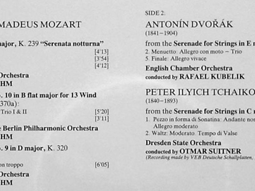 DG | Festival Serenade - Mozart, - Dvorak, Tchaikovsky / NM