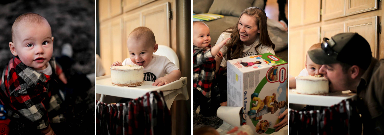 Henry's first birthday, baby bear, designtwentyfive