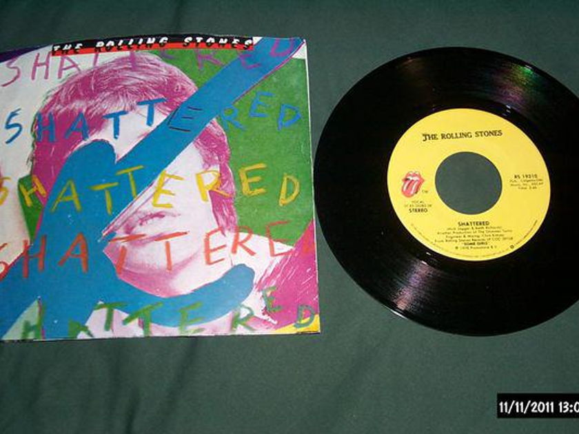 Rolling Stones - Shattered 45 with picture sleeve