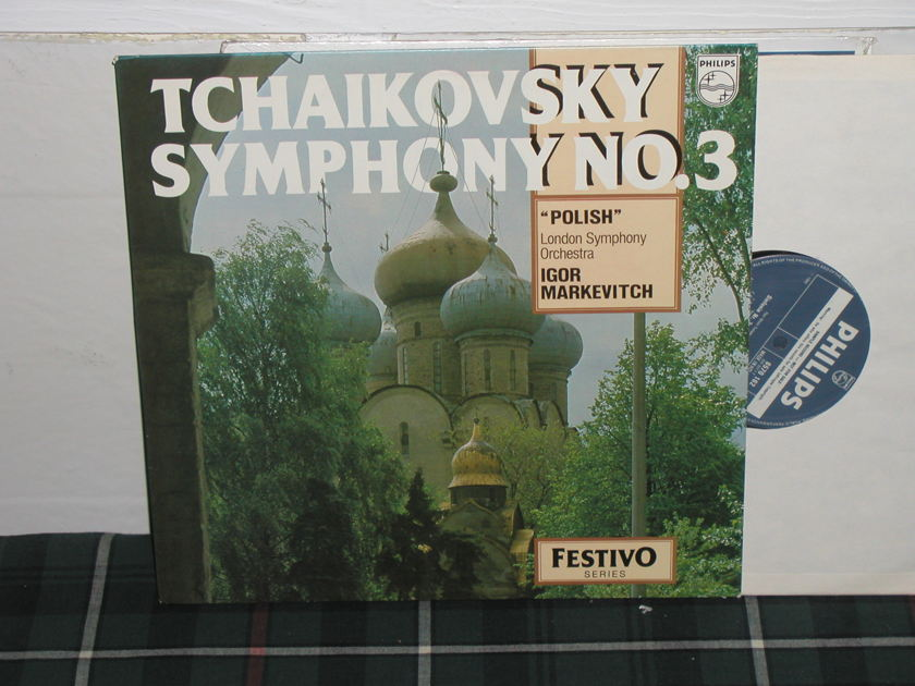 Markevitch/LSO - Tchaikovsky No.3 Philips Import LP ly 835