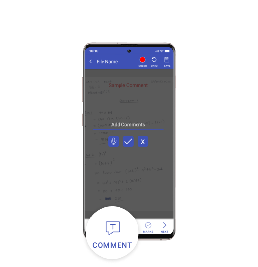 Comments tool