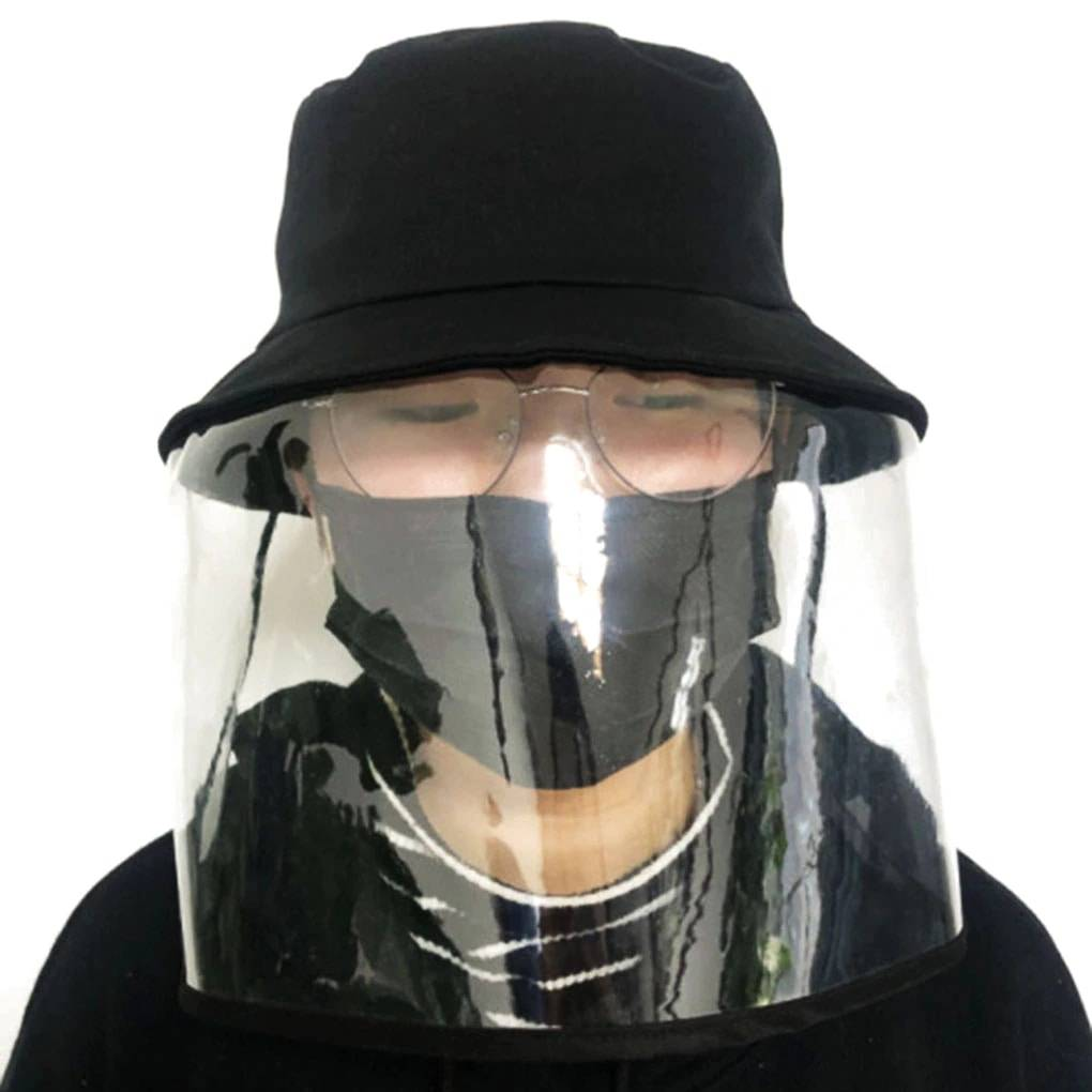 Anti-spatter-face-eyes-hat-protection-Anti-dust with mask-shield-Transparent-chapoo-details-2