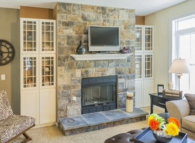 STERLING GRAY ASHER-FIREPLACE STONE SURROUND