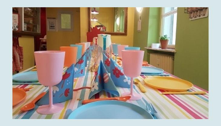 kinder kochschule geburtstags tisch