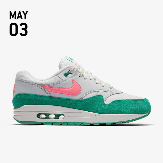 online store 87714 db33d NIKE AIR MAX 1 SHOE -  WATERMELON  SUMMIT WHITE SUNSET PULSE-KINETIC GREEN  AH8145-106