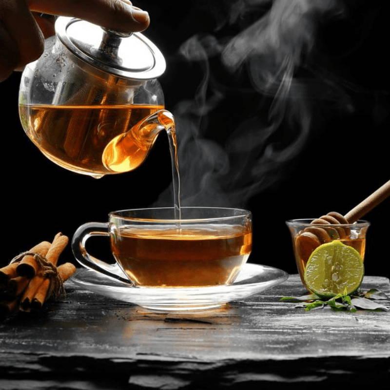 théière thé tasse en verre