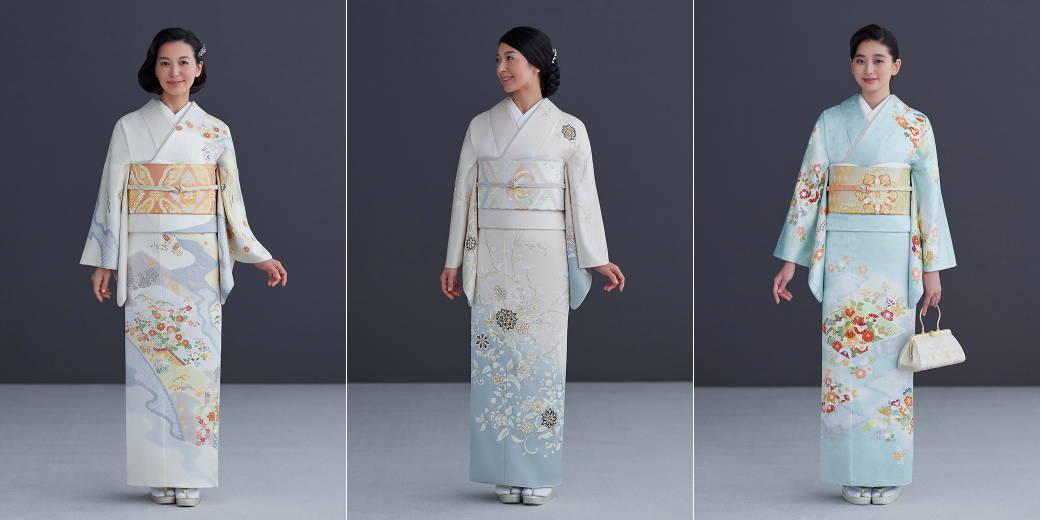 Women wearing Hōmongi Kimono