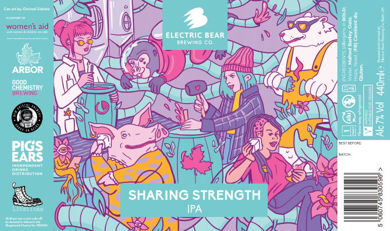Sharing Strength 7% IPA for International Women's Day Electric Bear Brewing