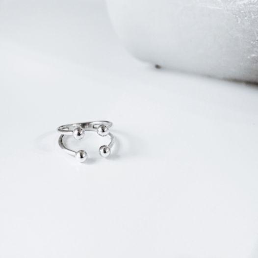 Кольцо 'Pearl-4' в серебре