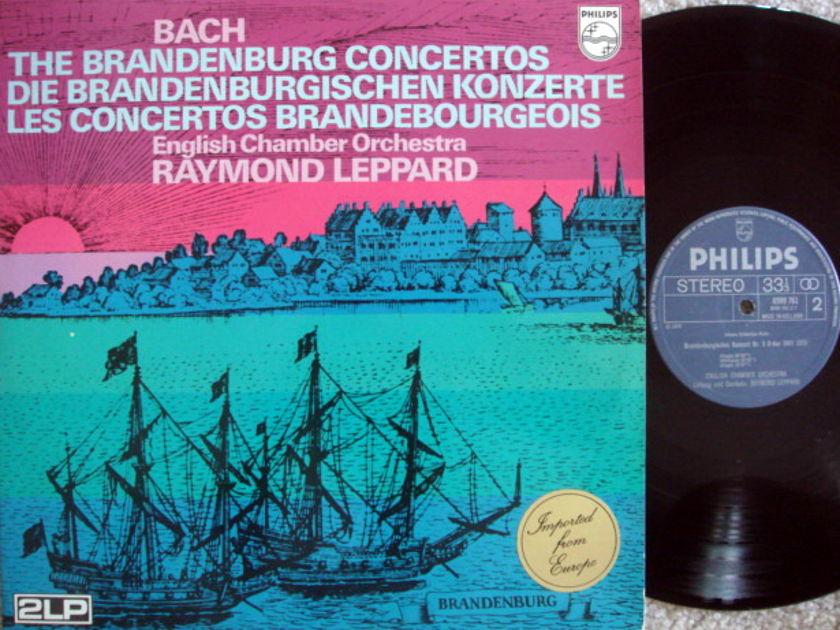 Philips / LEPPARD, - Bach 6 Brandenburg Concertos, NM, 2 LP Set!