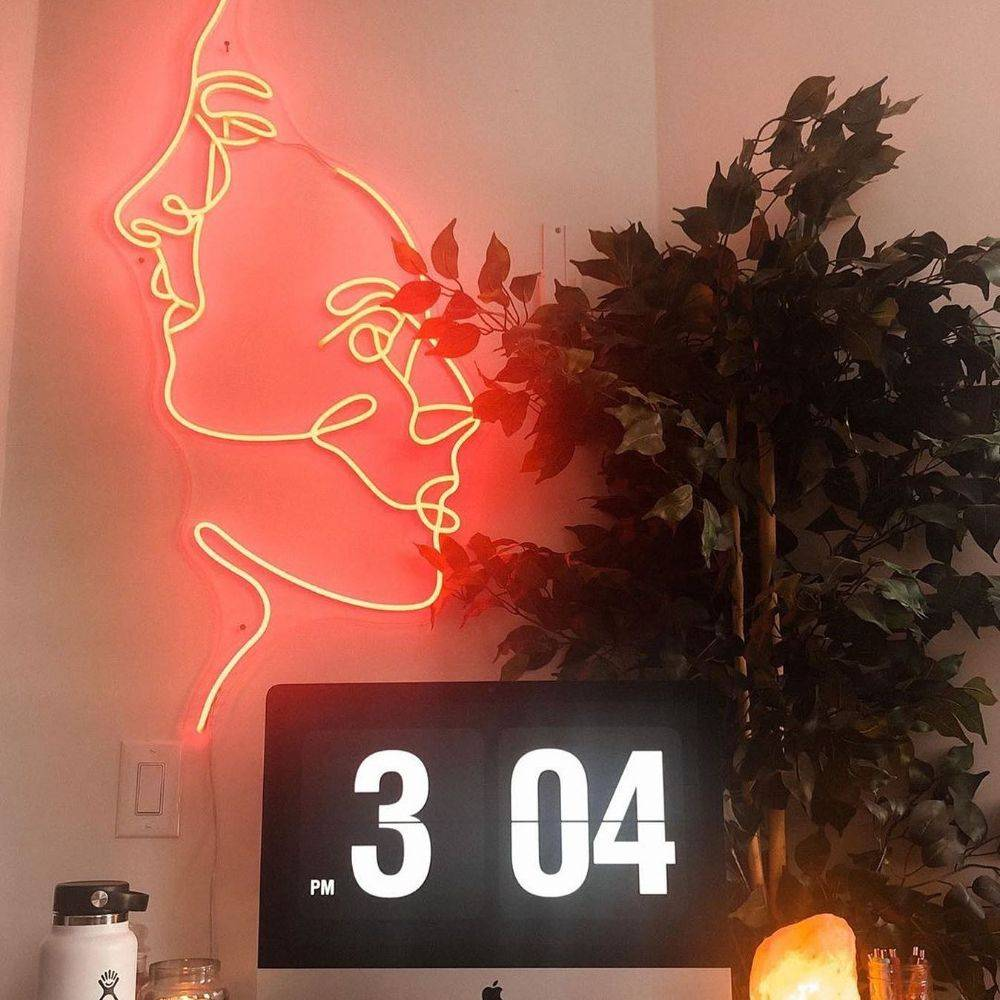 neon sign for man