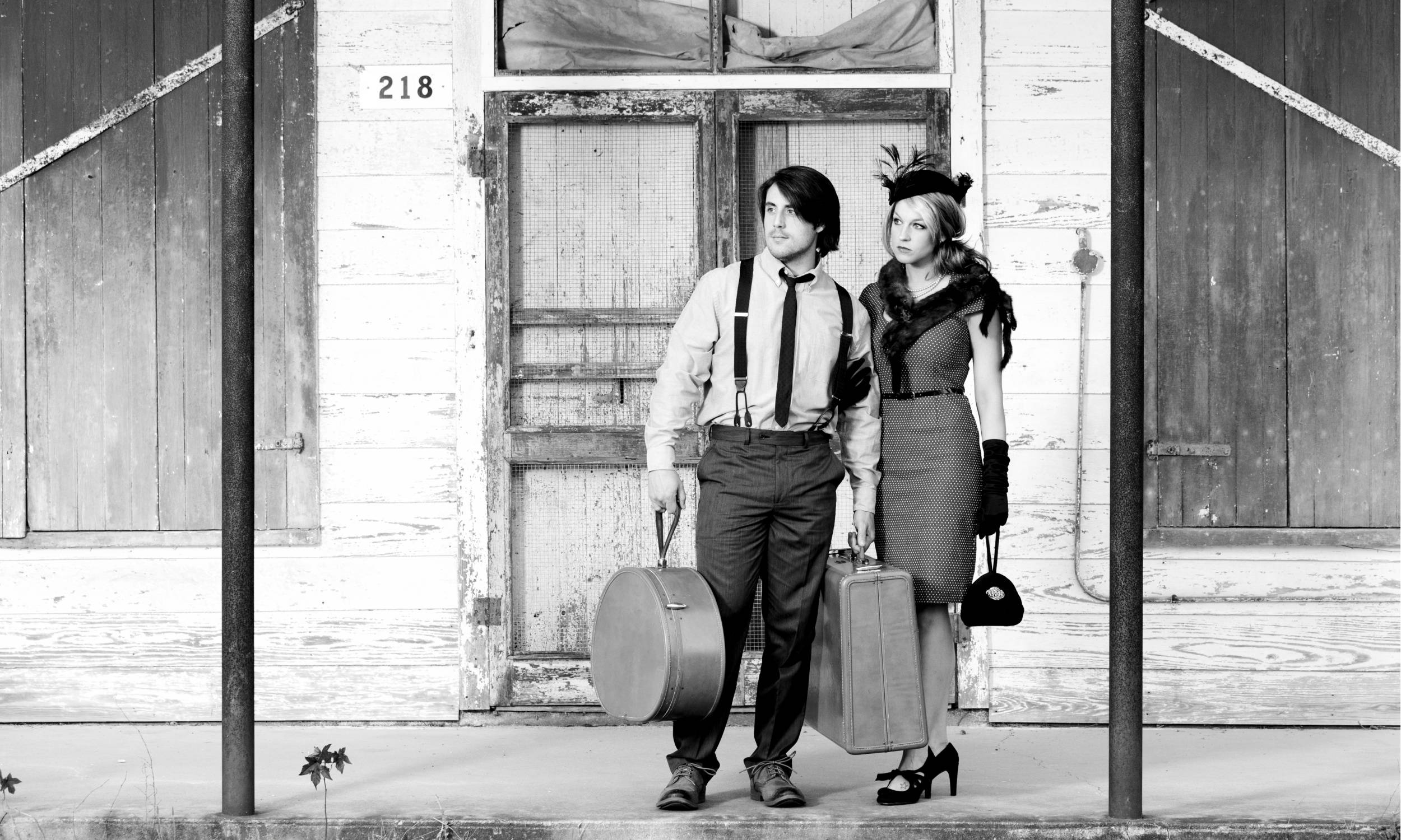 Suspenders vs Braces - Man and Woman Waiting for a Train