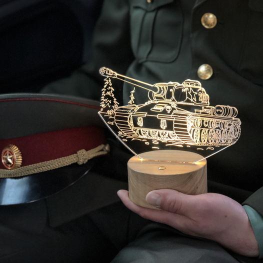 """Ночник """"Танк военный"""""""