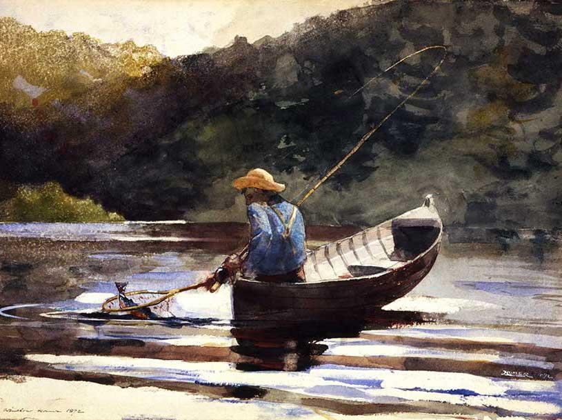 Winslow Homer (American, 1836–1910), Boy Fishing, (detail) 1892