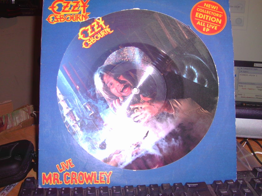 OZZY OZBOURNE - MR CROWLEY LIVE PICTURE DISK