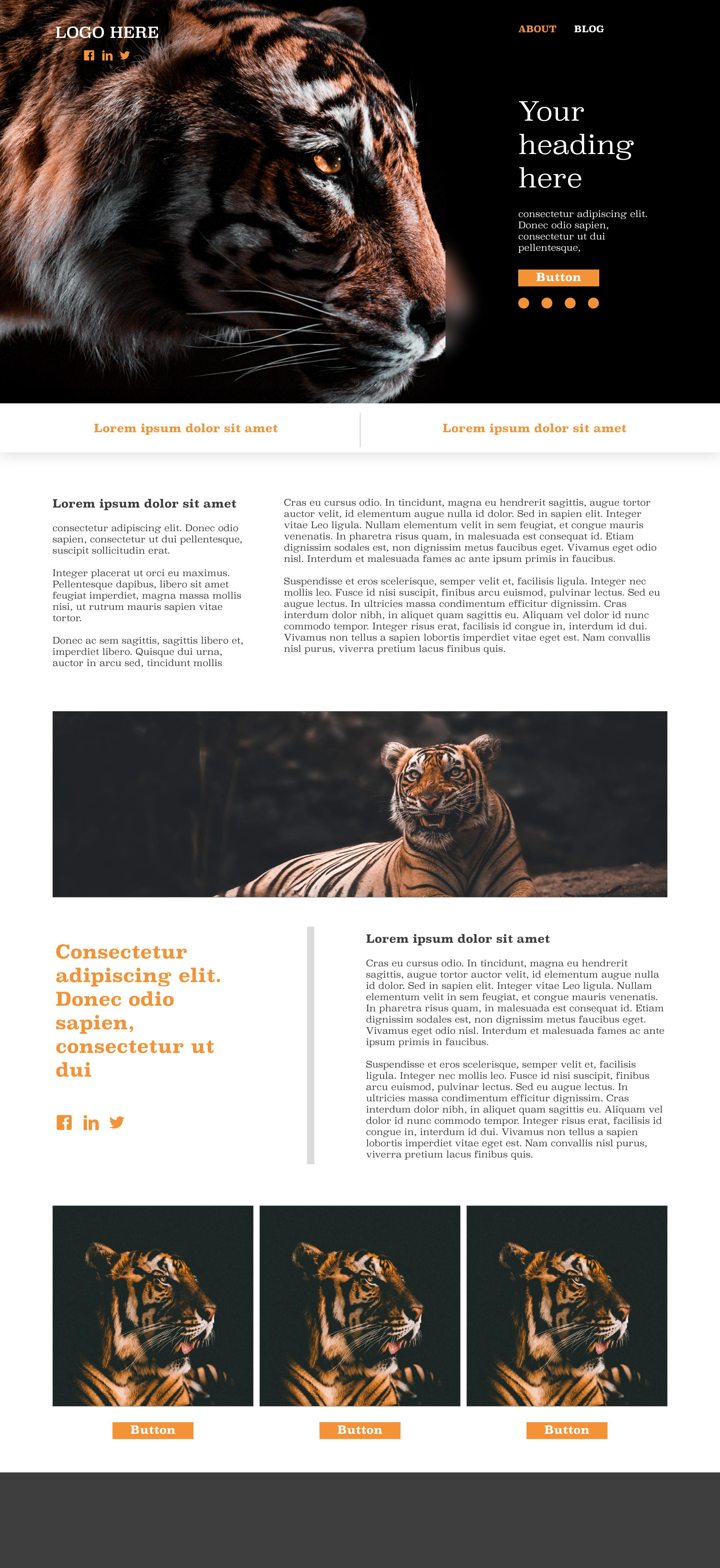 Tiger template's gallery image