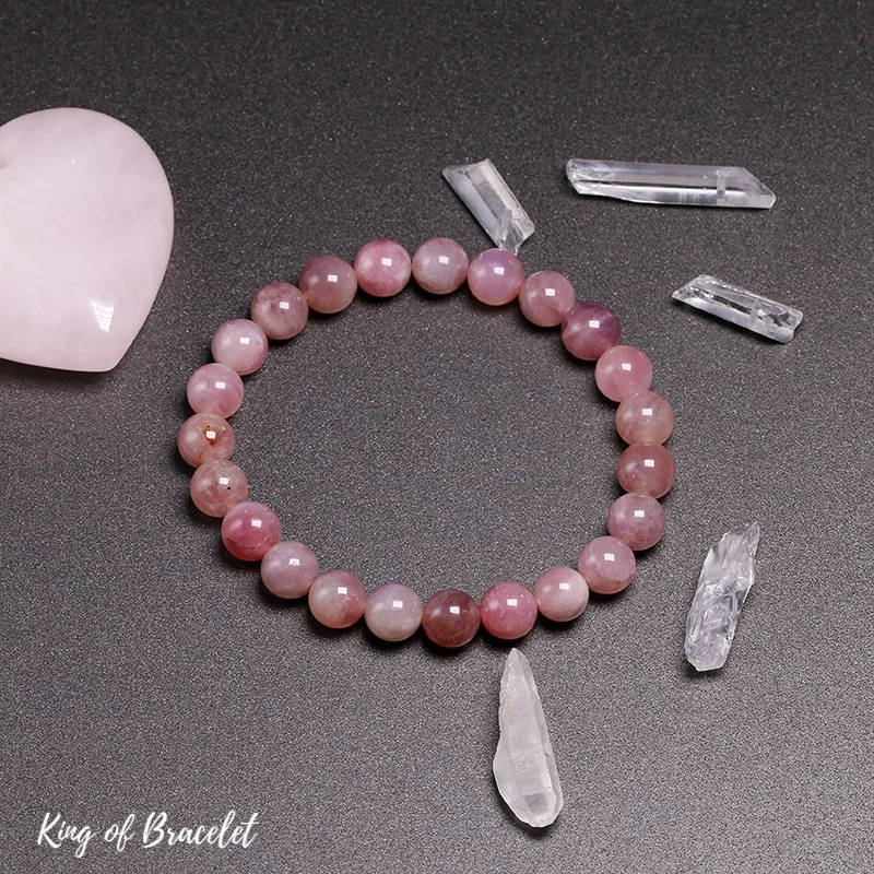 Bracelet de Lithothérapie en Quartz Rose - King of Bracelet