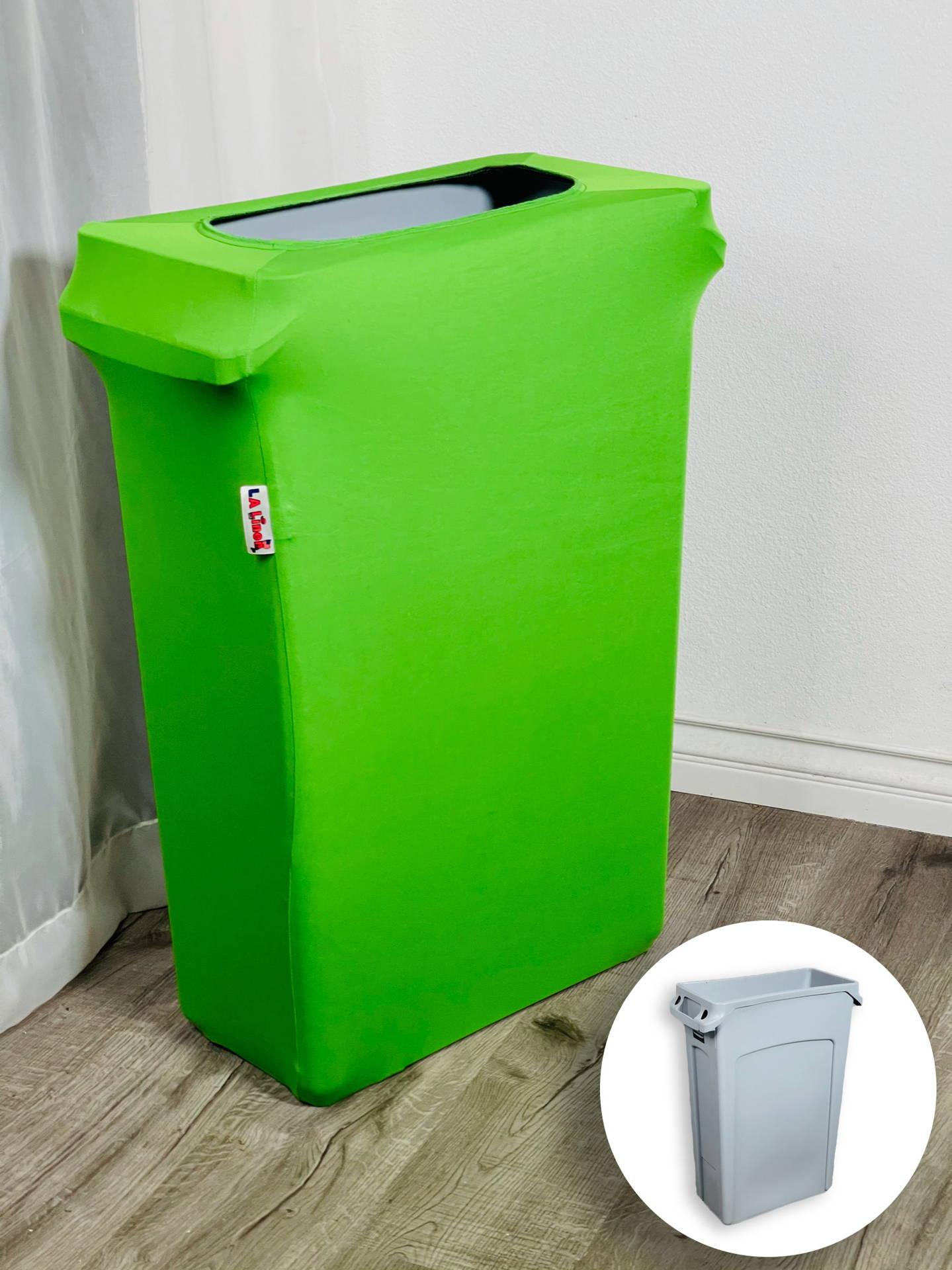 LA Linen Trash Can Cover, Lime color, indoor, home decor, interior