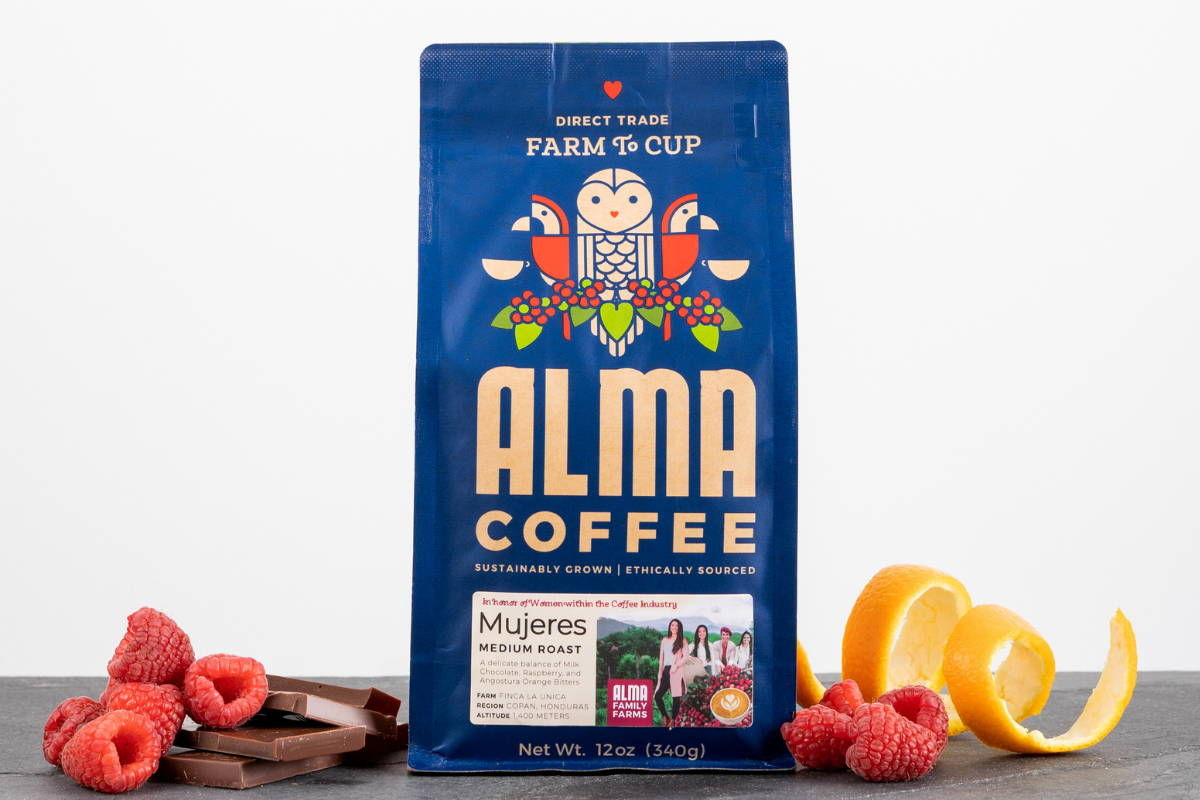 Bag of Mujeres Coffee.
