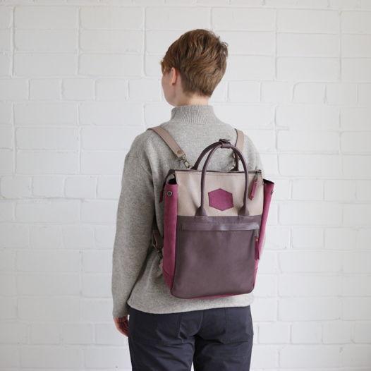 Кожаный рюкзак-сумка Urban Pack Fuchsia Lily
