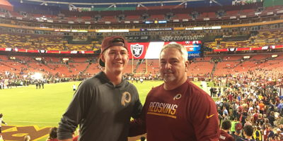 JDRF Service Leads to Redskins Ticket Surprise