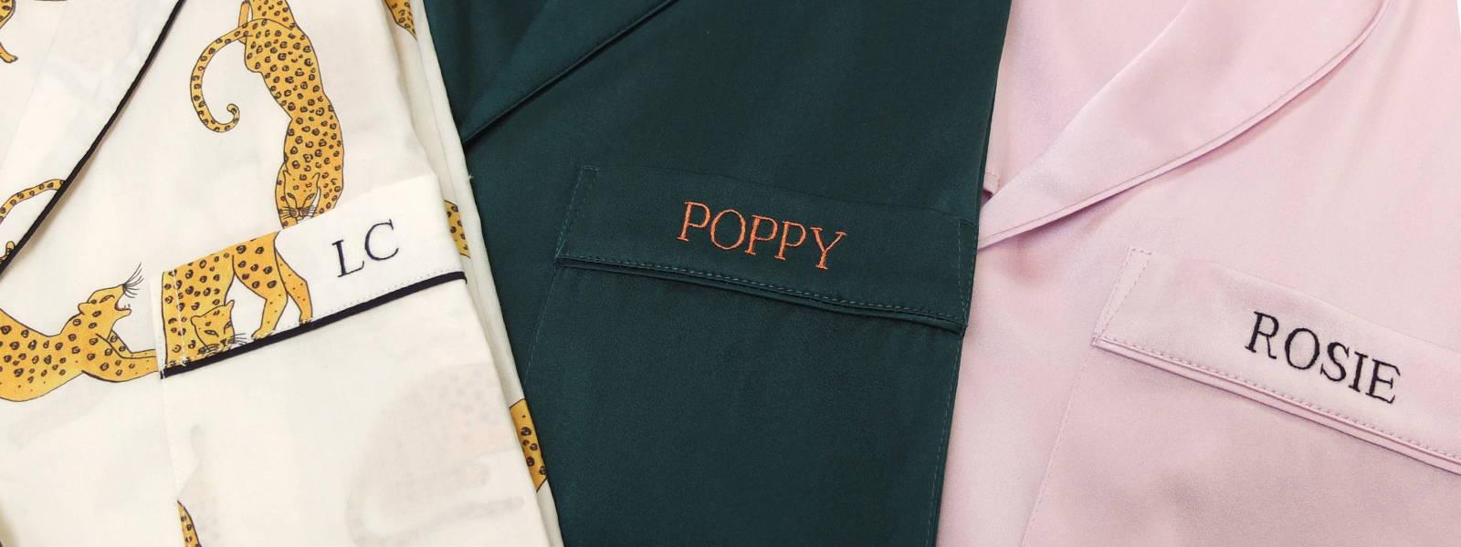 Bespoke Monogramming & Personalised Silk Pyjama Sets | YOLKE