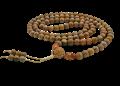 woman counting mala beads