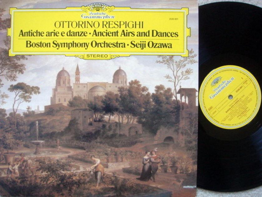 DG / Respighi Ancient Airs and Dances, - Ozawa/BSO, MINT!