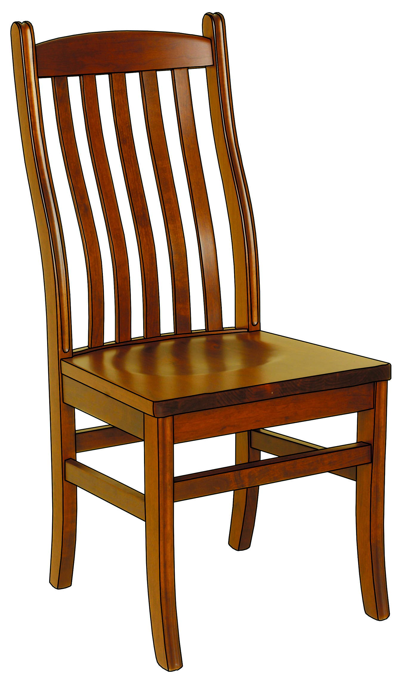 Williamson Solid Wood, Handcrafted Kitchen Chair or DIning Chair from Harvest Home Interiors Amish Furniture