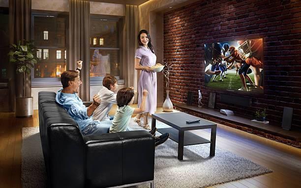 Guys watching sports