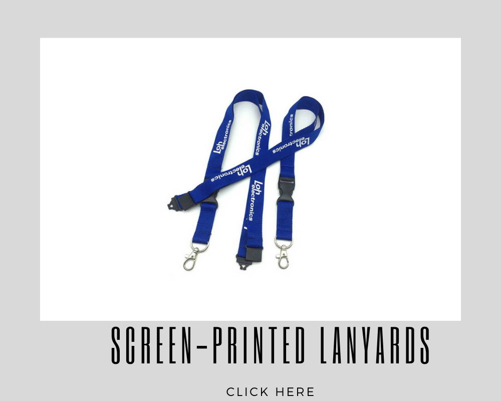 Screen-Printed Custom Corporate Lanyards