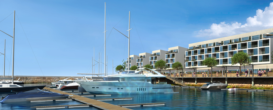 Hamburg - Marina at the Troia Resort in Portugal with berths and an extensive charter and rental offer as well as a casino, many bars and excellent restaurants.