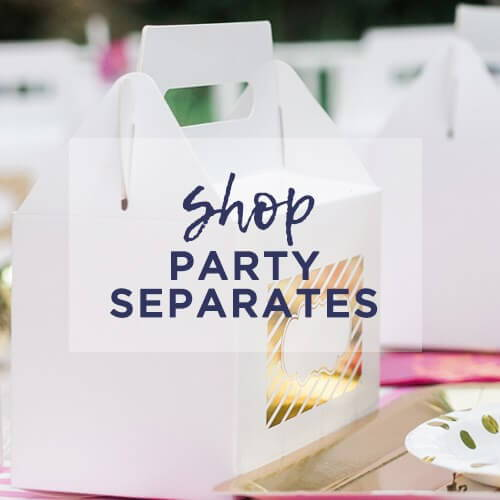 modern party supplies and decorations