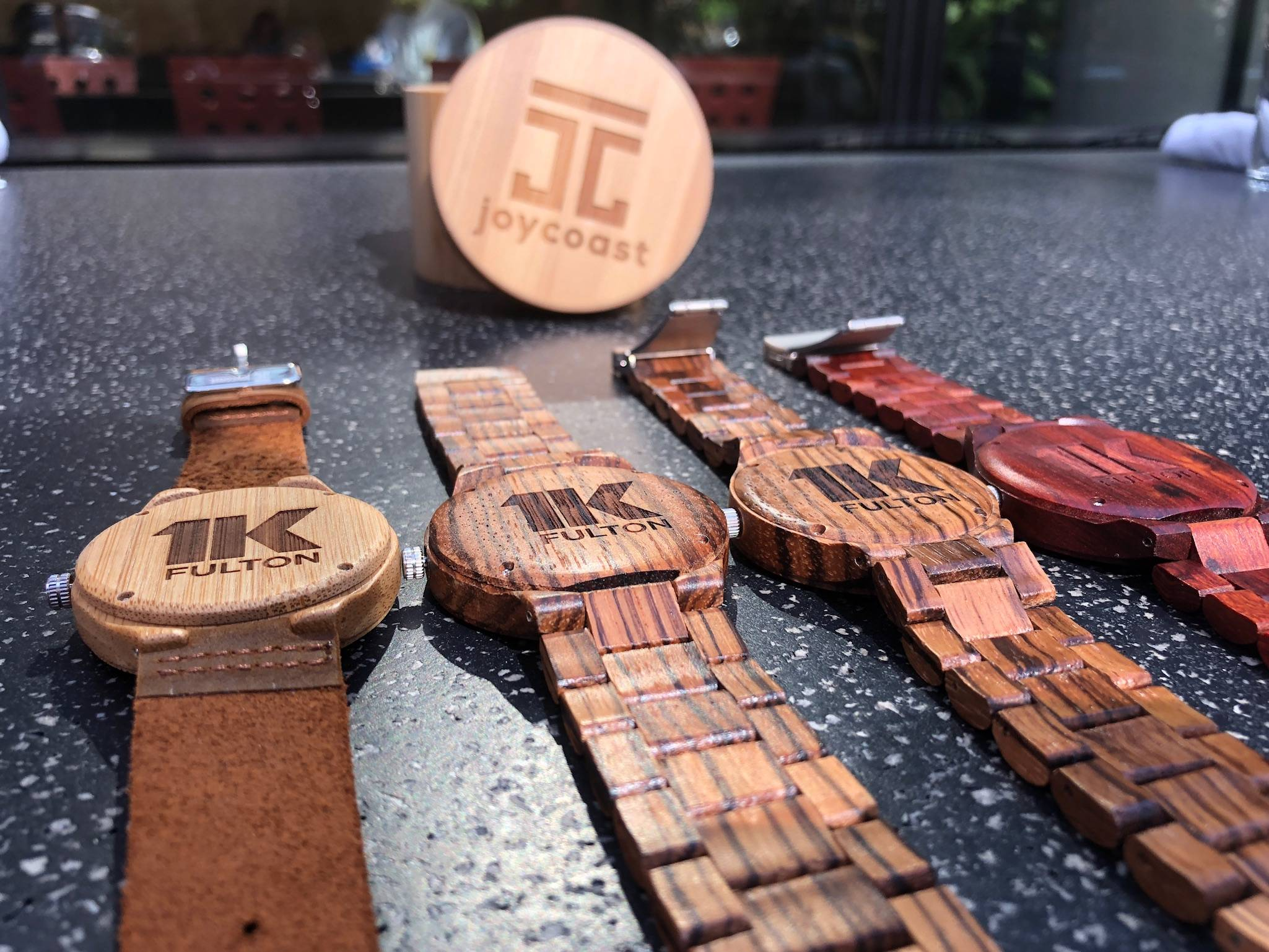 Corporate Engraved Wooden Watches with Logo