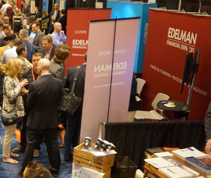 Ric Edelman may have set a trend by recruiting advisors at his booth.