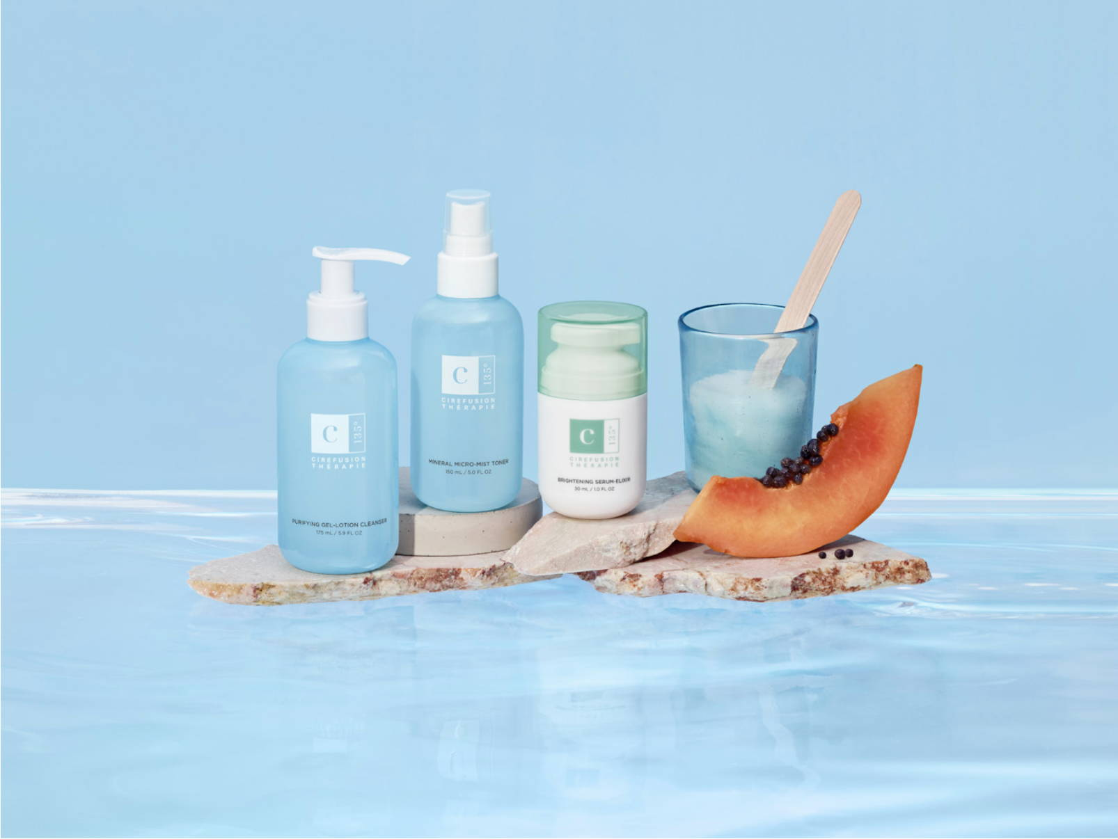 At Home Skincare Thérapie Collection products